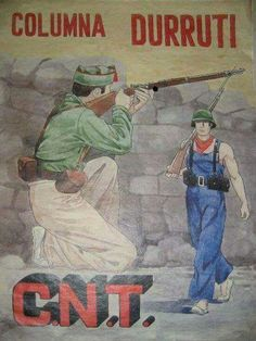 Spain - 1937. - GC - poster - Columna Durruti CNT