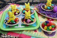 Mini Peep Easter Bunny Dirt Pies