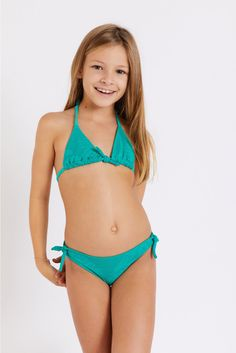 M Pepita Paradise children's green swimsuit | Banana Moon® Sporty Chic, Cute Swimsuits, Two Piece Swimsuits, Paradise Girl, Dance Moms Dancers, Green Two Piece, Little Girl Models, Green Swimsuit, Vogue