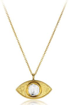Amrapali Legend 18k Kundan Vintage Evil Eye Pendant Necklace, 24