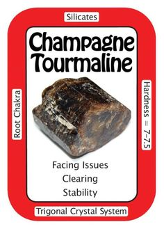 """Crystal Card of the Day: Champagne Tourmaline, """"I address issues and they are easily resolved."""" Champagne Tourmaline is associated with the Root and Heart Chakras, and is great for grounding and aligning the Aura. Dravite (Dravide) is known to be helpful with family issues, and the double terminated pieces are great for the flow of energy in two directions at once. Placing one of these specimens in a room can help to emit the collective understanding vibration out to anyone nearby, making…"""