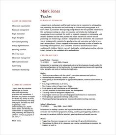 How To Create A Good Resume Beauteous Sample Professional Teacher Resume Template  How To Make A Good .