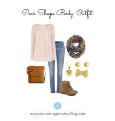 Pear body shape casual outfit