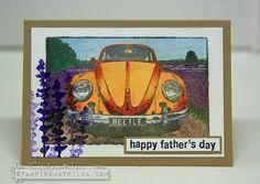 StampingMathilda: VW Beetle In A Lavender Field