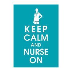Items similar to Keep Calm and Nurse On, Poster (Featured in Oceanic Waves) Buy 3 and get 1 FREE on Etsy Rn Nurse, Nurse Life, Nurse Humor, Nurse Stuff, Nurses Week Gifts, Happy Nurses Week, Reward And Recognition, Oncology Nursing, Nursing Memes
