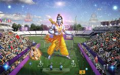 Lord Rama wins a gold medal in archery at the 2012 London Olympics