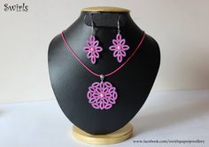 Pink quilled set