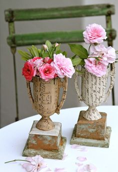 Make these paper covered trophies tutorial and 45 BEST Shabby Lifestyle Decor & Accessory DIY Tutorials EVER!!  From MrsPollyRogers.com