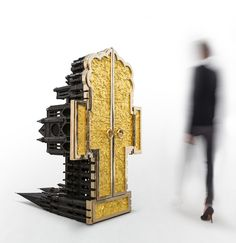 studio job | chartres 2009 – 2012 polished and patinated bronze, 24k gold leaf h170 l155 w102 cm / h66.9 l61 w40.2 in limited edition: proto + 3 + 2 ap Carpenter, Furniture Decor, Furniture Design, Sculpture Art, Objects, Studio, Gallery, Cabinet, Building Architecture