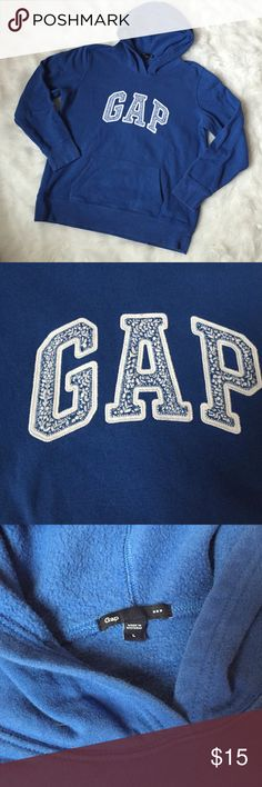 Gap Factory Logo Hoodie Blue logo hoodie from the Gap Factory store. Good used condition, no external signs of wear. Just some piling of the cotton on the inside of the sweatshirt. No stains or discoloration. GAP Tops Sweatshirts & Hoodies