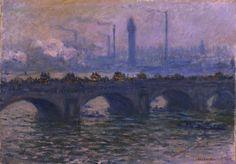"""Claude Monet, """"Waterloo Bridge,"""" 1903. Worcester Art Museum."""