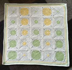 Dotty Spotty Baby Blanket by Shelley Husband