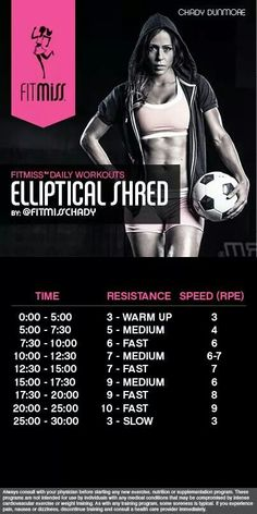 Elliptical Shred Workout