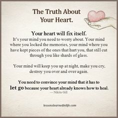 Lessons Learned in Life | The truth about your heart.