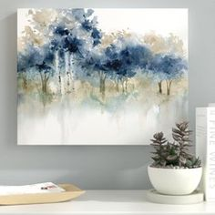 'waters edge iii' impression sur toile tendue - Drawing and Art Abstract Landscape, Abstract Art, Abstract Painting Ideas On Canvas, Abstract Trees, Abstract Paintings, Art Mural, Wall Art, Canvas Art, Canvas Prints