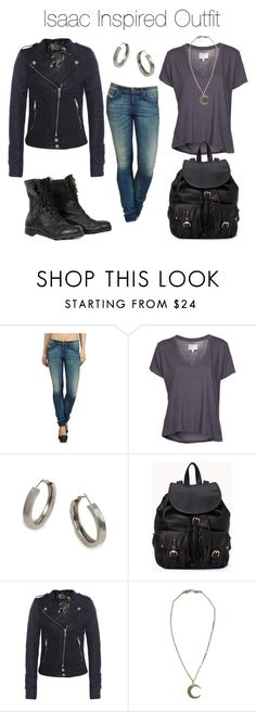 """""""Teen Wolf - Isaac Inspired Outfit"""" by stardustonthepiano ❤ liked on Polyvore featuring Diesel, Current/Elliott, BaubleBar, Forever 21, Jofama and Alkemie"""