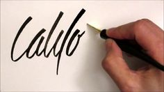 Folded Pen Callligraphy - California