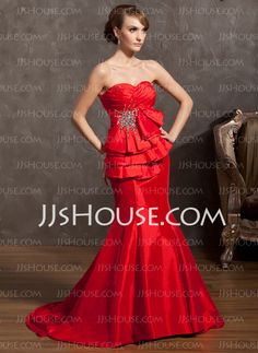 Holiday+Dresses+-+$142.99+-+Mermaid+Sweetheart+Court+Train+Taffeta+Holiday+Dress+With+Ruffle+Beading+(020025966)+http://jjshouse.com/Mermaid-Sweetheart-Court-Train-Taffeta-Holiday-Dress-With-Ruffle-Beading-020025966-g25966