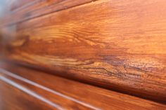 "Me doing a ""faux"" wood grain on a garage door."