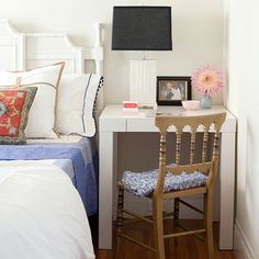 Outsmart Your Small Bedroom: Why limit your nightstand to just one purpose when it can serve two?