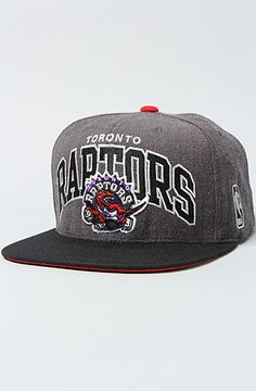 san francisco 0a24c f2145 Mitchell   Ness The Toronto Raptors NBA Arch Grey 2T Snapback Cap in Black  Red