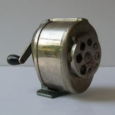 Pencil Sharpener from back in the day...so much better than the electric ones that eat your pencils.  SH