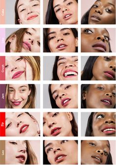 Generation G: Zip, Leo, Crush, and Jam pop with color while Cake and Like give a subtle enhancement to your natural lip
