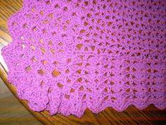 Baby Crochet Blanket and Shawl  Cuddle blanket (nannycheryl original) ID 680(B) £45.00