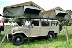 Toyota Land Cruiser, FJ45, Rooftop tent