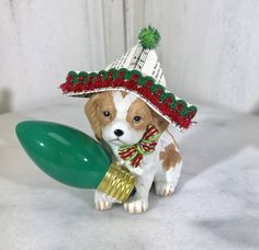 Excited to share the latest addition to my #etsy shop: Vintage Christmas, vintage up cycle, handmade, OOAK, vintage dog, Christmas light, vintage sheet music, paper hat, Christmas cake topper #housewarming #christmas #vintagedog #dogfigurine #christmasdog #vintagesheetmusic