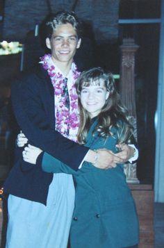 Paul Walker with Meadow's mother