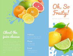 Citrus Juicing Detox Trifold Brochure