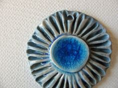 Indigo Blue Sea Pendant by TinasBeadMind on Etsy, $15.00