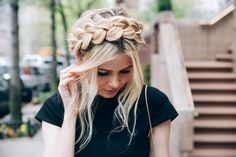 Braided head band