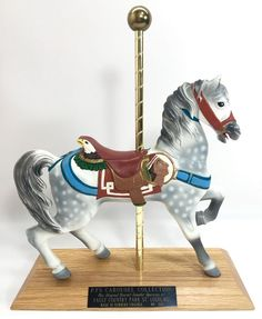 PJ's Collectible Carousel Horse Dentzel Style Faust Country Park St Louis MO | eBay