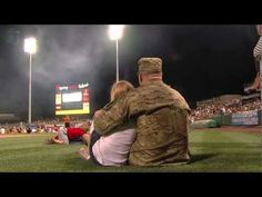 [VIDEO] U.S. Soldier Surprises Daughter on Baseball Field  |  Spc. Josh Young had not seen his daughter Paula Hagel for more than 6 months while he was on tour in Afghanistan. He returned home this past July 4th and surprised his daughter at a Salt Lake Bees minor league baseball game!