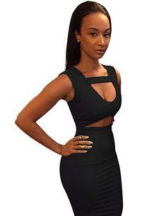36957070b97 Allegrace Women Sexy Stretch Bodycon Mid Bandage Party Dress