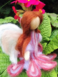 Your place to buy and sell all things handmade Felt Fairy, Felt Flowers, Needle Felting, Wool Felt, Art Dolls, My Etsy Shop, Delicate, Angel, Colours