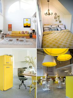 """Yellow has been my favorite color for quite some time. I think I naturally gravitate towards it because it's warm, inviting, and happy. You can't look at yellow and not feel a spring in your step, you know? Oprah once said that her best friend, Gayle King, decorated her house in all yellow because """"it's impossible to see yellow and not feel happy."""" Looks like I have a fellow yellow-lover."""