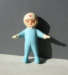 Rare Vintage Collectible Soviet Era COSMONAUT Astronaut Spaceman Doll