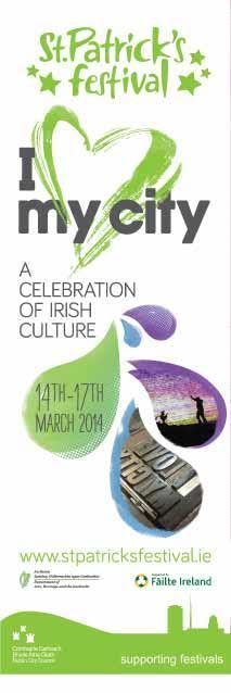 Dublin City Council Lamppost Banners for St Patrick's Festival 2014 #civicmedia2014