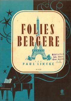PAUL LINCKE - FOLIES BERGÈRE - MARSCH - 1919 - ORIG. MUSIKNOTE FÜR KLAVIER SOLO