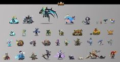 """All the character concepts and drafts for project """"Twelve Star Spirit"""" were have done two years ago 2d Character, Character Concept, Character Design, Game Concept Art, 2d Art, Creature Design, Creatures, Spirit, Stars"""