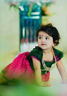 Best 12 Dhanu little princess – Page 341710690473884555 Kids Dress Wear, Dresses Kids Girl, Kids Gown, Baby Dresses, Kids Frocks Design, Baby Frocks Designs, Indian Baby Girl, Cute Baby Girl Wallpaper, Kids Ethnic Wear
