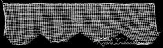 The scalloped edge found on page 243 of Treasures in Needlework is a variation of a Vandyke edge. Instead of continuing to the point, this. Scalloped Edge, Needlework, Dressmaking, Couture, Handarbeit, Craft, Tatting, Sewing, Embroidery Stitches