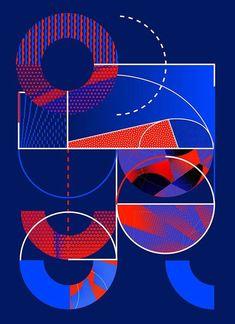 Nike Le Quartier Campaign Nike Europe commissioned Paris-based studio Atelier Irradié, under the creative direction of Daniel Whiteneck, to create the artworks for the event, 'Le Quartier'. Sports Graphic Design, Graphic Design Posters, Graphic Design Illustration, Graphic Design Inspiration, Sport Design, Nike Poster, Poster S, Design Graphique, Art Graphique