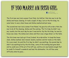 If you marry an Irish girl.May god protect you Irish girls Irish Jokes, Irish Proverbs, Irish Eyes Are Smiling, Irish Pride, Irish Girls, Irish Celtic, Irish Men, Irish Blessing, Inspire Quotes