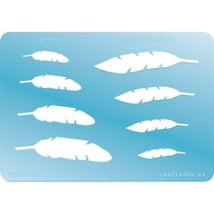 Jewelry Shape Template - Feathers 1 at Cool Tools, $6.95