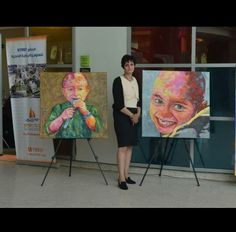 My first solo exhibition in cancer Hospital for children and charity