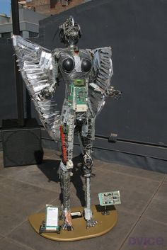 "How to Recycle: Freaky Cyberpunk ""Microchip Art"" Sculptures"